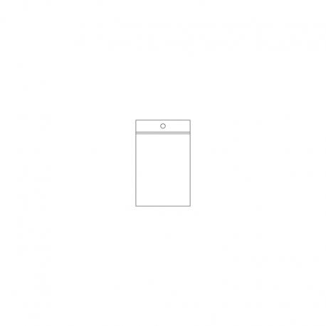 PP - SVB, 070 x 100 x 0,05 mm, VE 1.000 Stck., mit Rundloch mittig in der Lippe