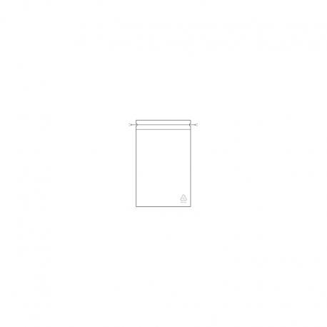 LDPE - Doppel-Kordelzug-Beutel, 100 x 150 x 0,05 mm, VE 1.000 Stck.