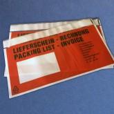 Format: DIN LANG / 240 x 120 mm, VE 1.000 Stück, Lieferscheintaschen bedruckt